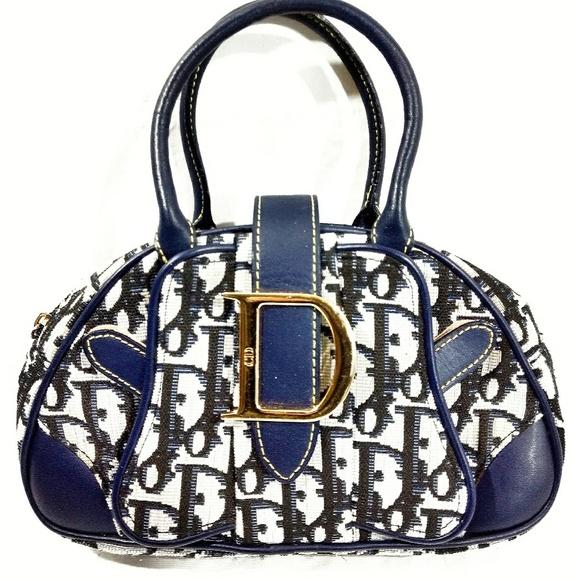 Dior Bags   Vtg Monogram Mini Saddle Bowling Bag   Poshmark b0a391c585